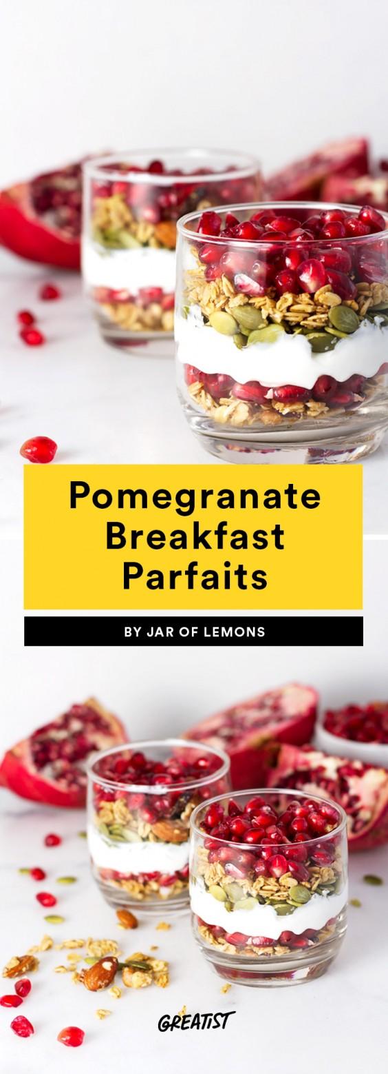 Pomegranate Breakfast Parfaits