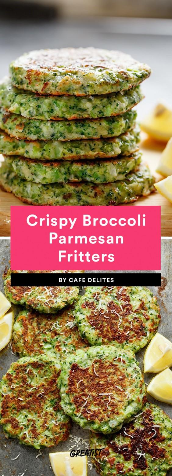 Crispy Broccoli Parmesan Fritters Recipe