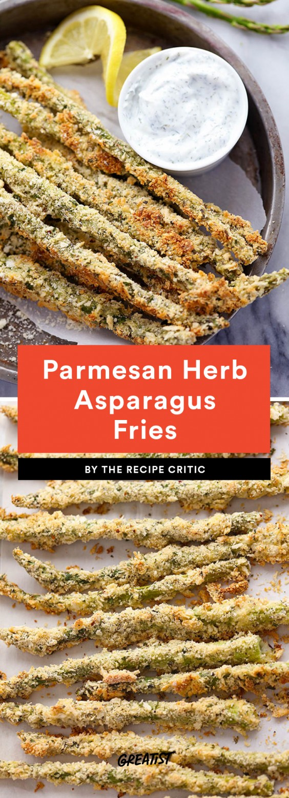 Parmesan Herb Asparagus Fries