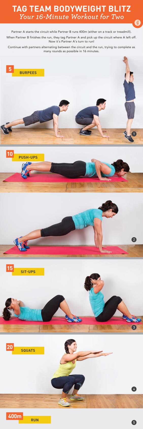 16 Minute Partner Workout