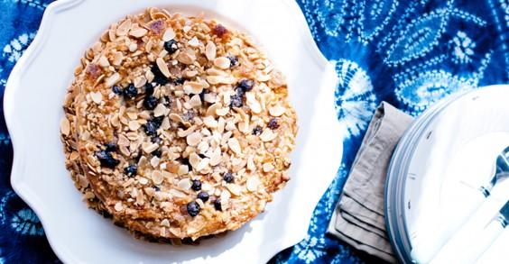 Almond Pear Blueberry Cake