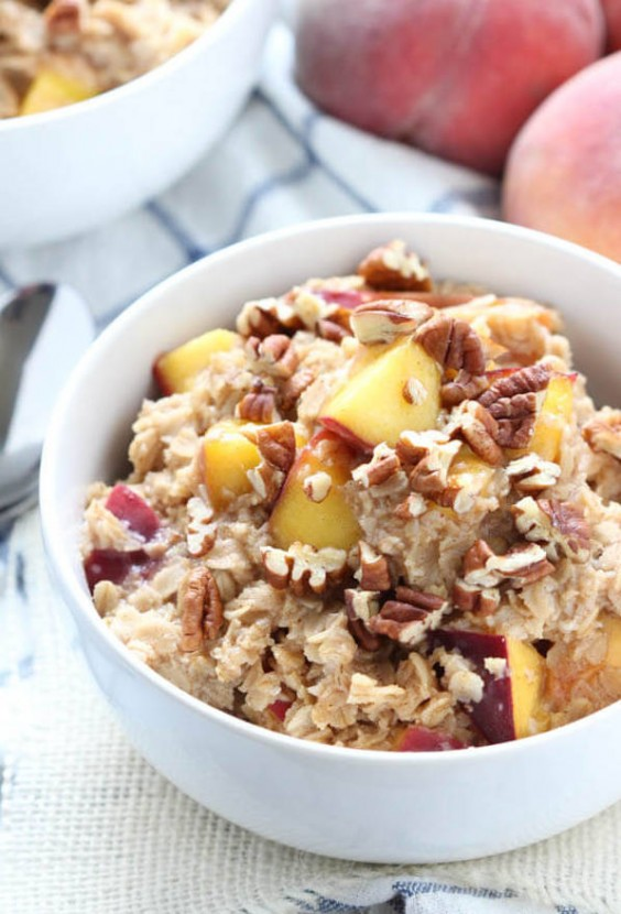 6. Peach Cobbler Oatmeal