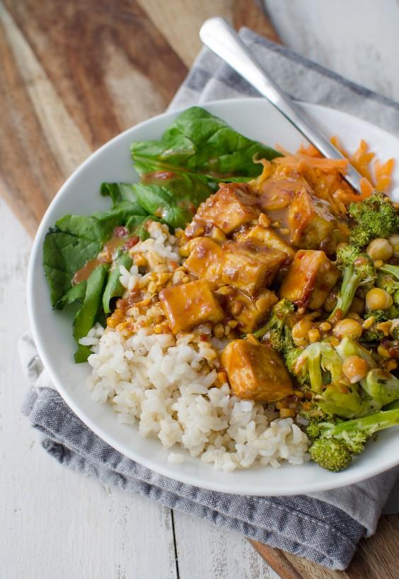 Tofu Recipes: Peanut Tofu Buddha Bowl