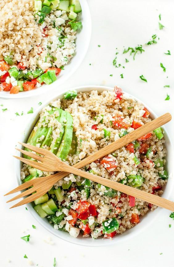 Healthy Grain Bowls: Greek Quinoa Bowls