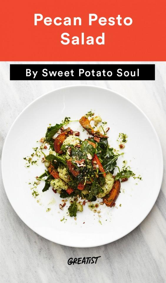 Sweet Potato Soul: pesto salad