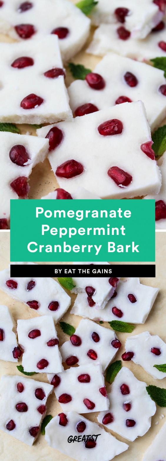Pomegranate Peppermint Coconut Bark
