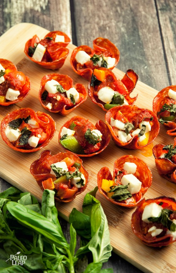 Paleo Snacks: Pepperoni Pizza Bites