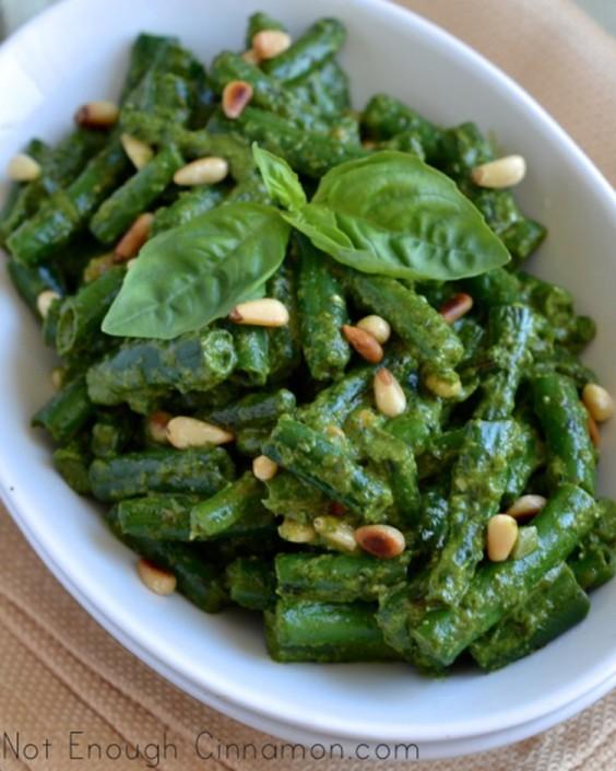 Crispy Green Beans With Pesto