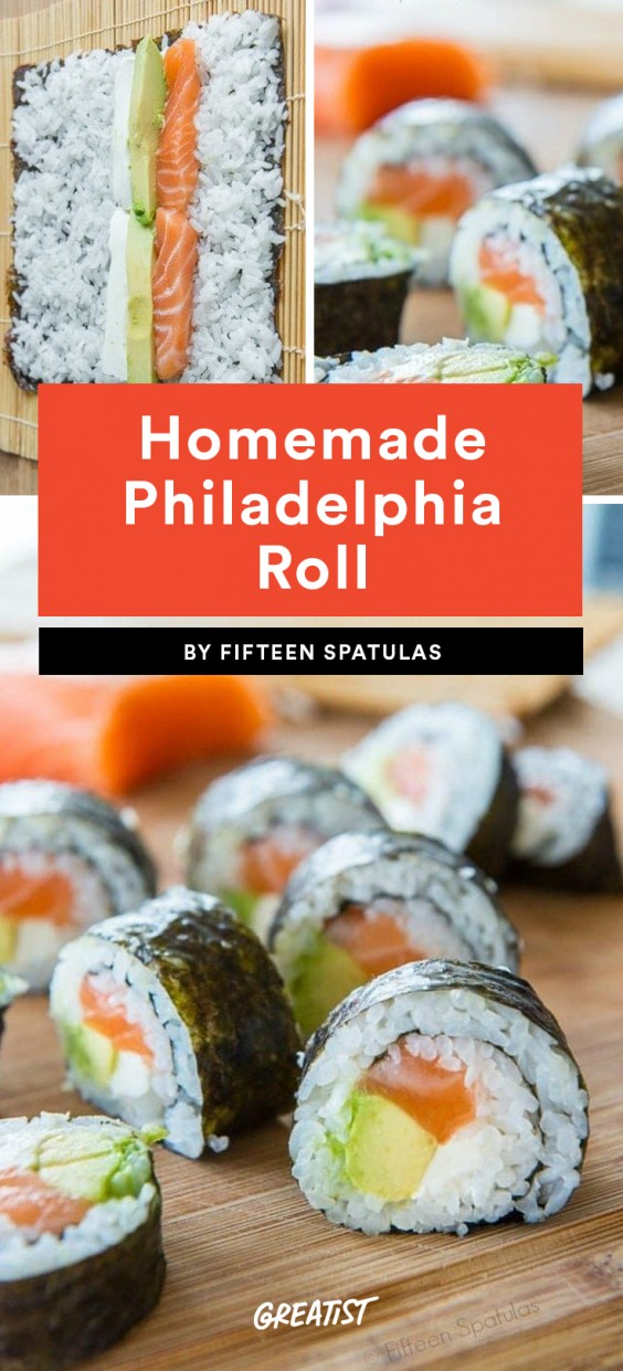 Homemade Philadelphia Roll