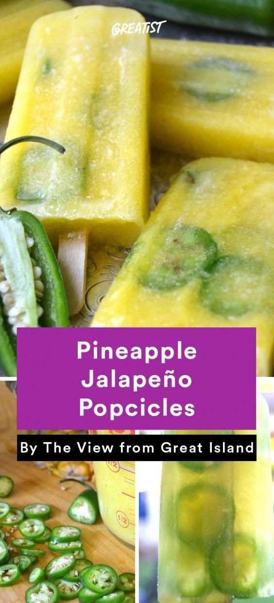 Popsicles: Pineapple Jalapeno
