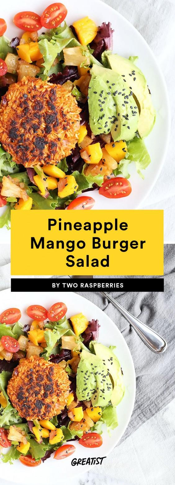 Pineapple Mango Burger Salad