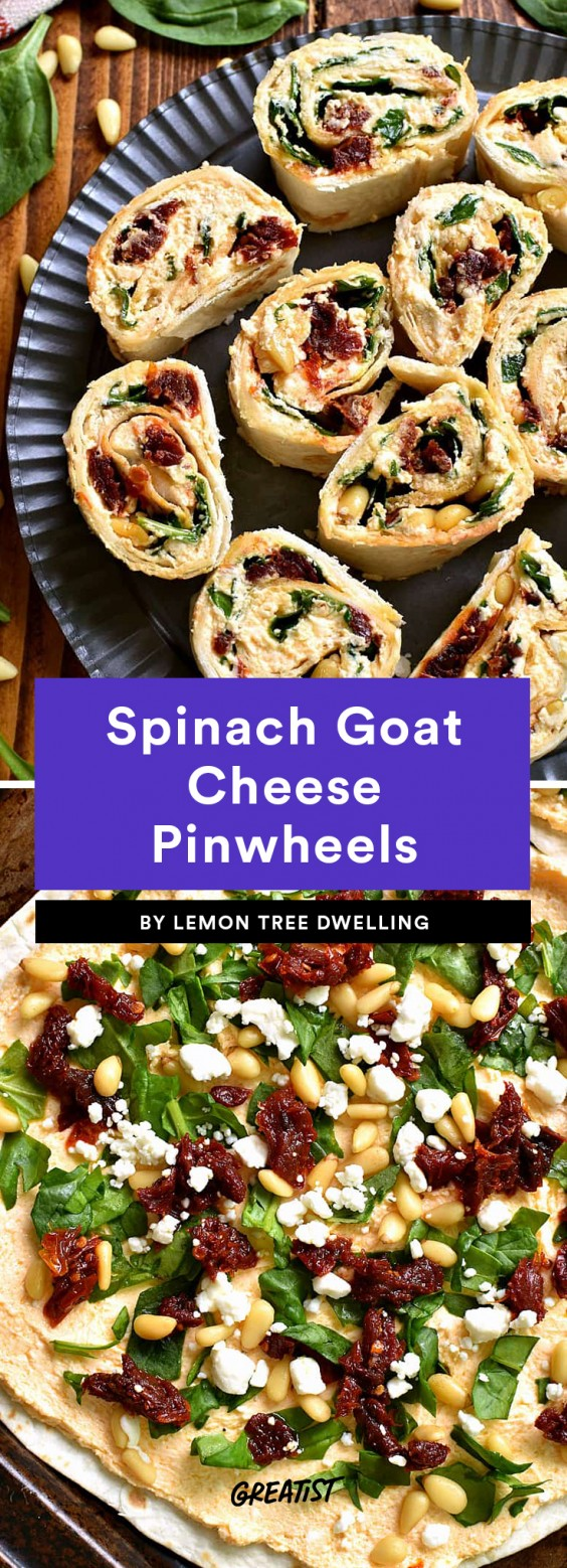 Spinach Goat Cheese Pinwheels