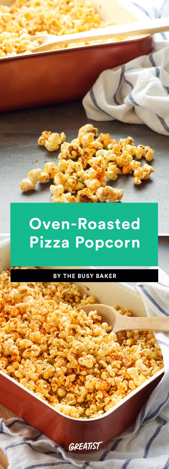 Oven-Roasted Pizza Popcorn
