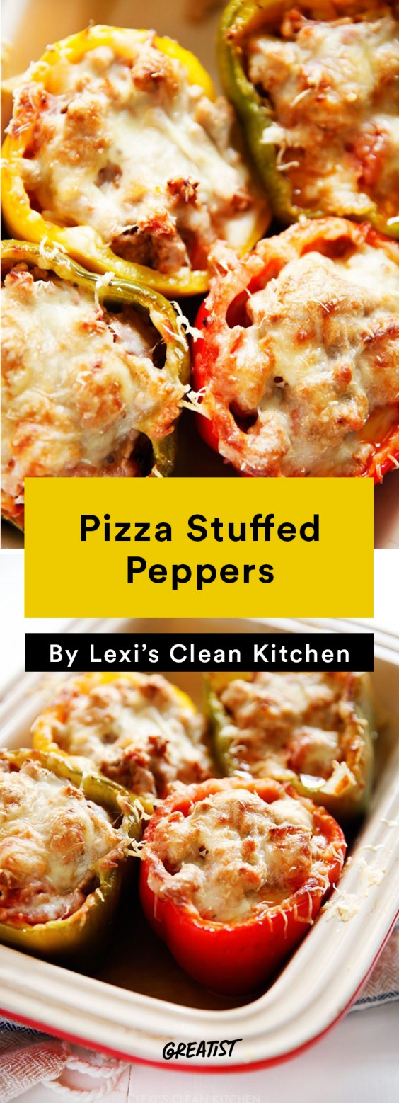 Lexi's Clean Kitchen Pizza Stuffed Peppers