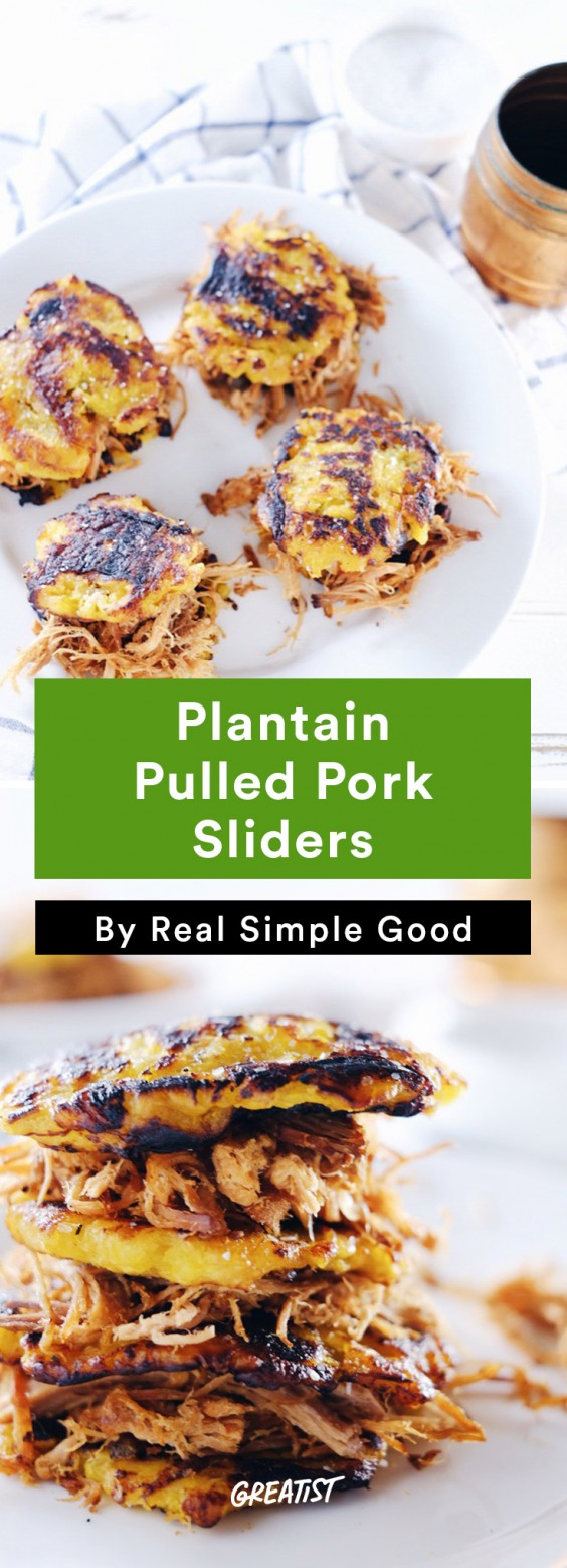 Real Simple Good Dinner: Plantain Pulled Pork Sliders