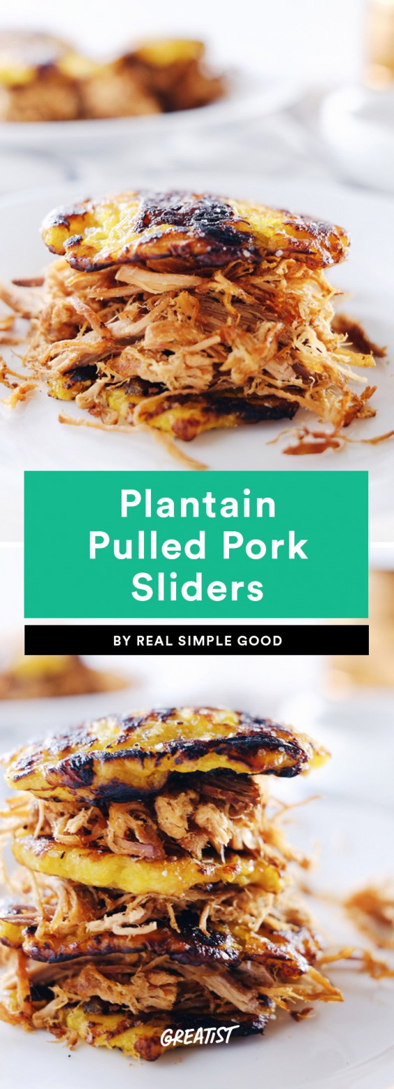 Plantain Pulled Pork Sliders