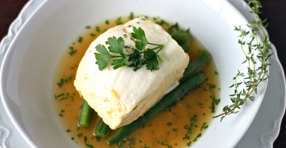 Lemon and Herb Poached Halibut Recipe