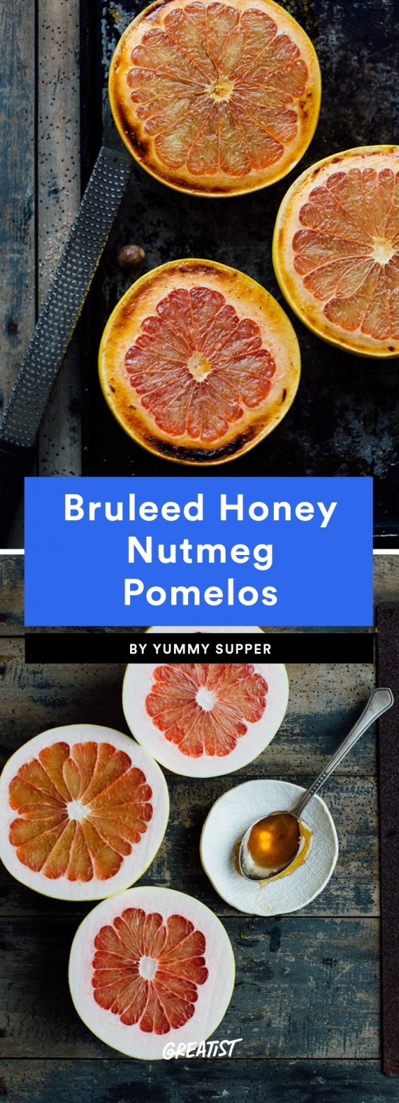 Bruleed Honey Nutmeg Pomelos