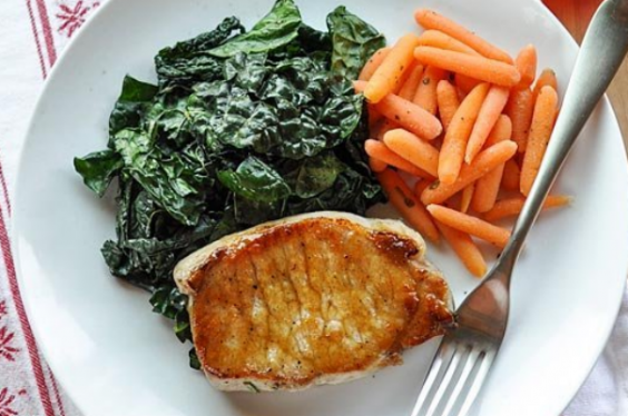 17. Sage-Brined Pork Chops with Brown Sugar Glaze