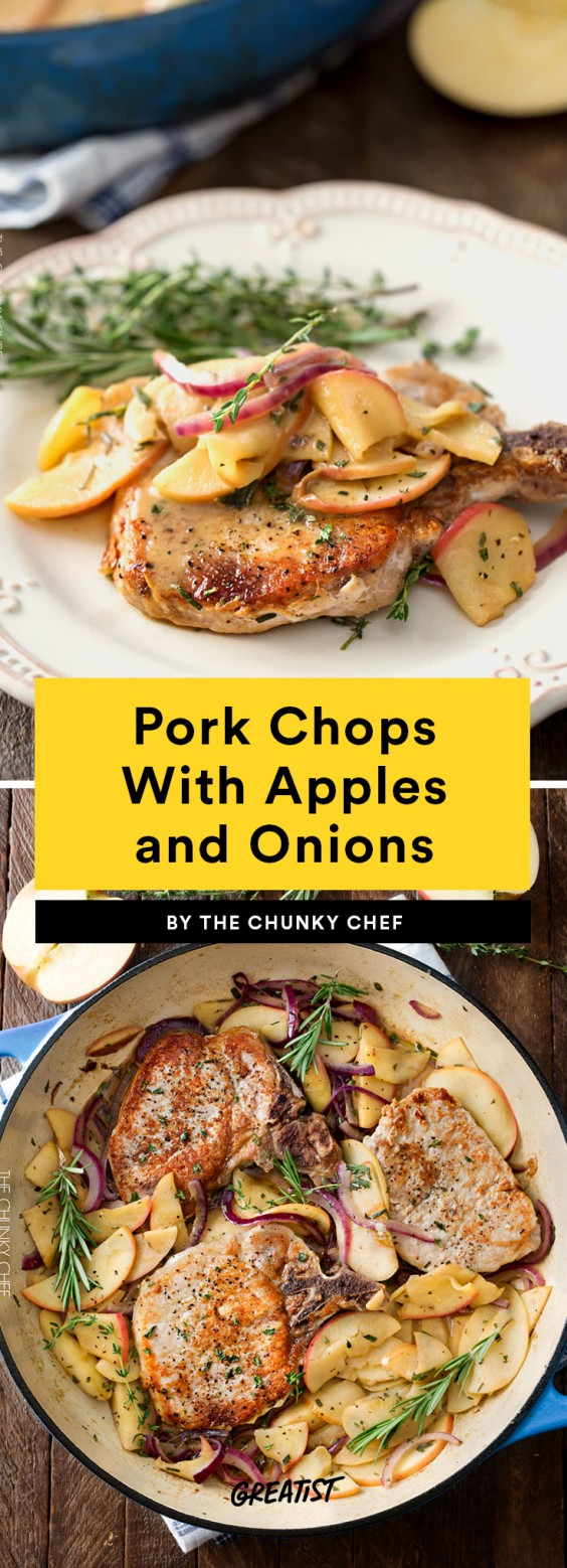 Pork Chops With Apples and Onions