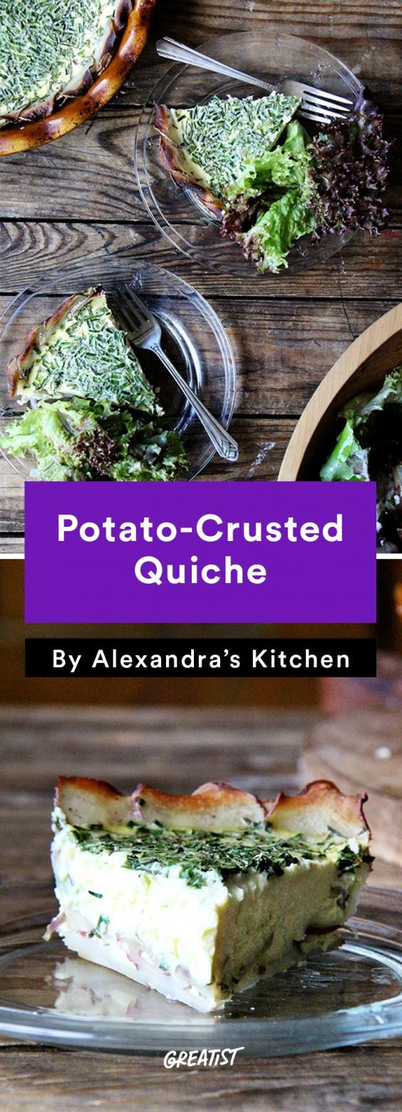 alexandra's kitchen: Potato-Crusted Quiche