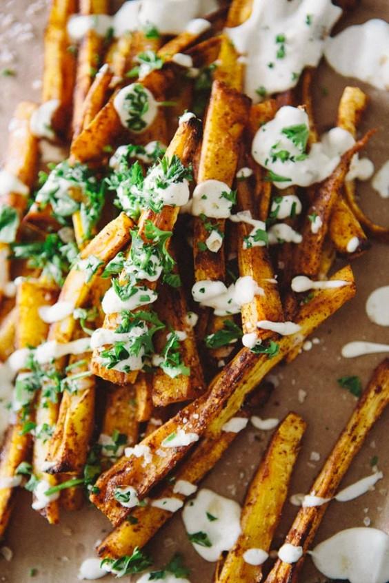 veg as carbs: Paprika Parsnip Fries