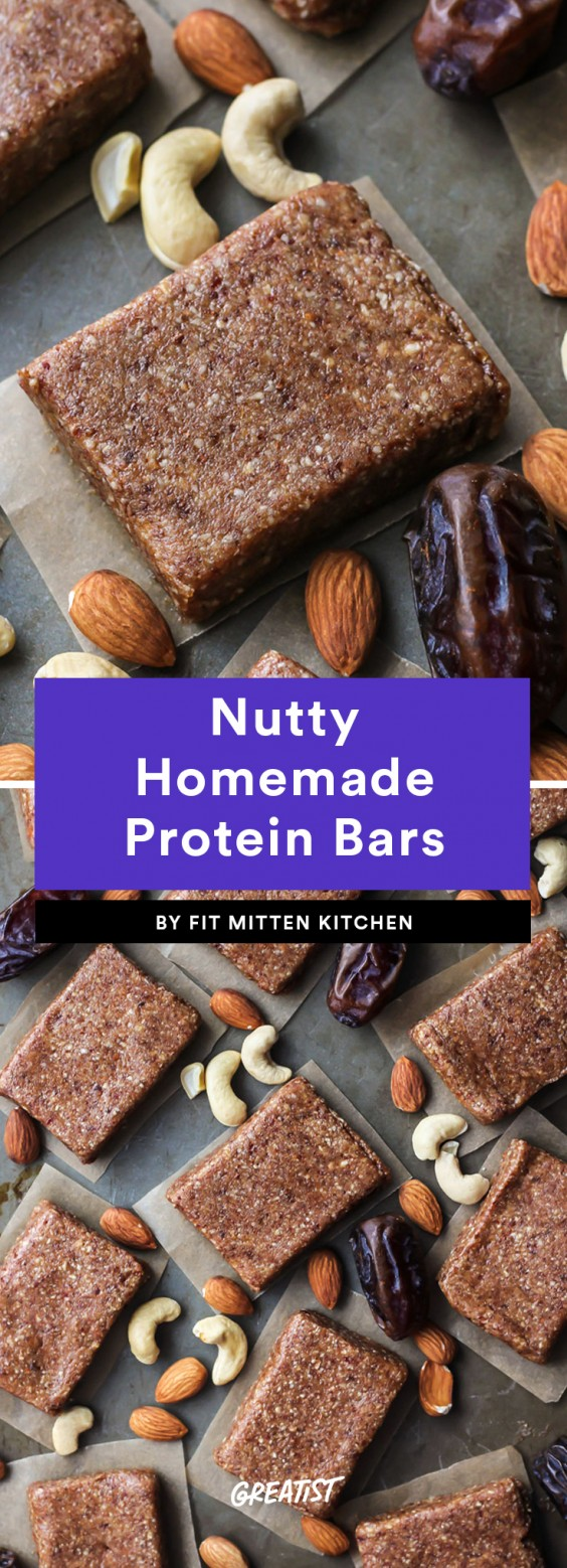 Nutty Homemade Protein Bars