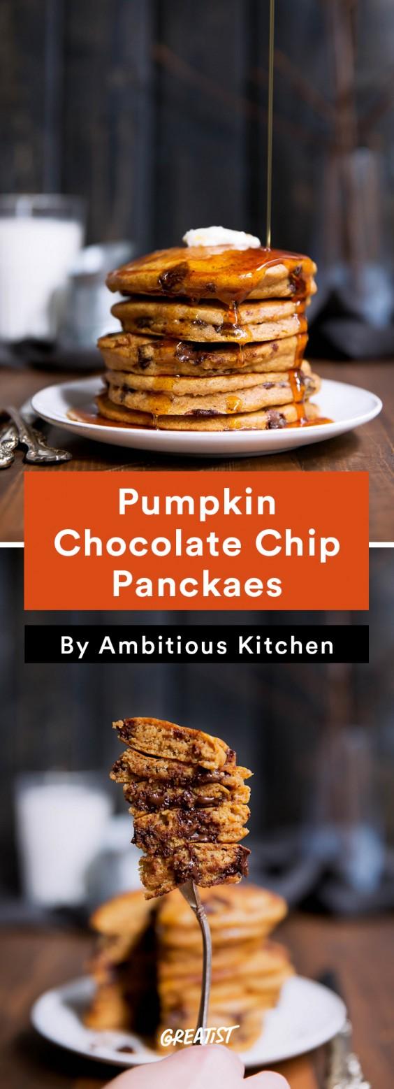 Fall Food Trends: Pumpkin Chocolate Chip Pancakes