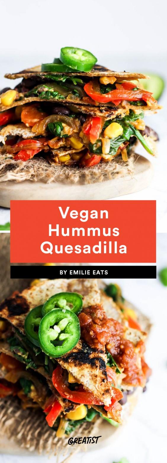 Vegan Hummus Quesadilla