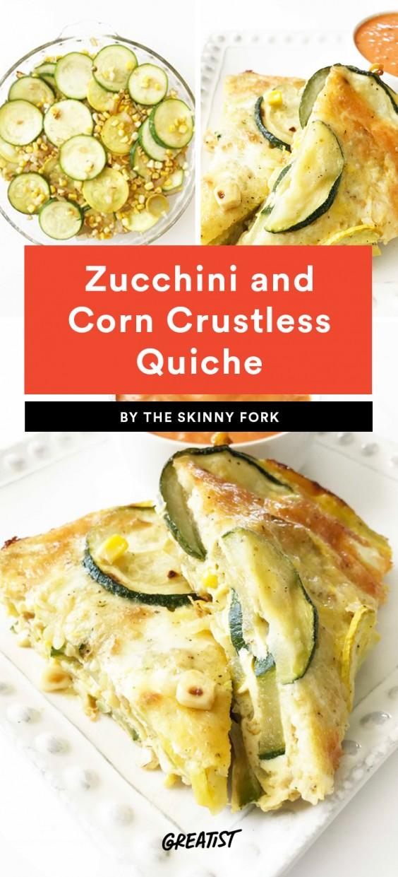 Zucchini and Corn Crustless Quiche