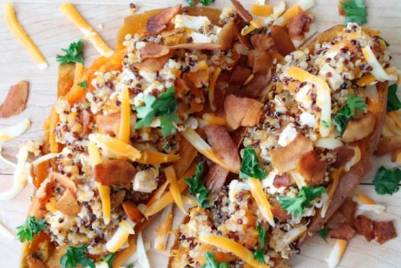 Recipe: Quinoa Stuffed Maple Sweet Potatoes