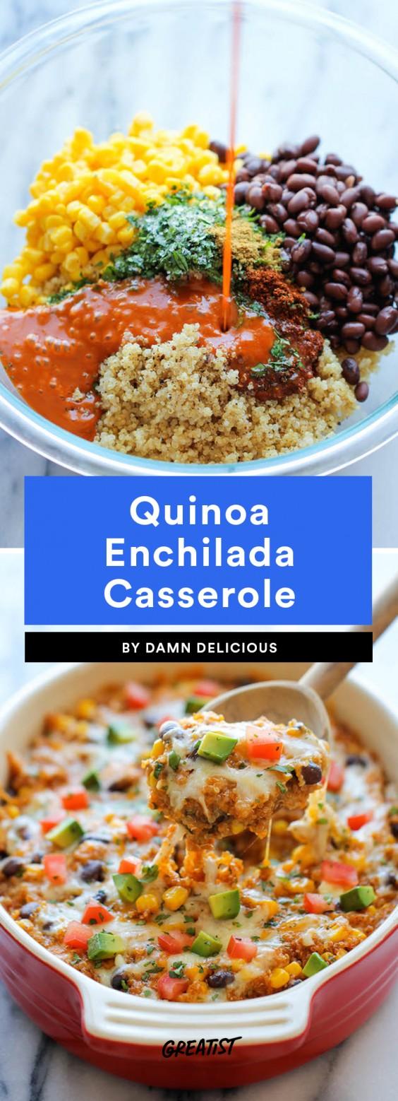 Blue apron quinoa enchiladas - Quinoa Enchilada Casserole