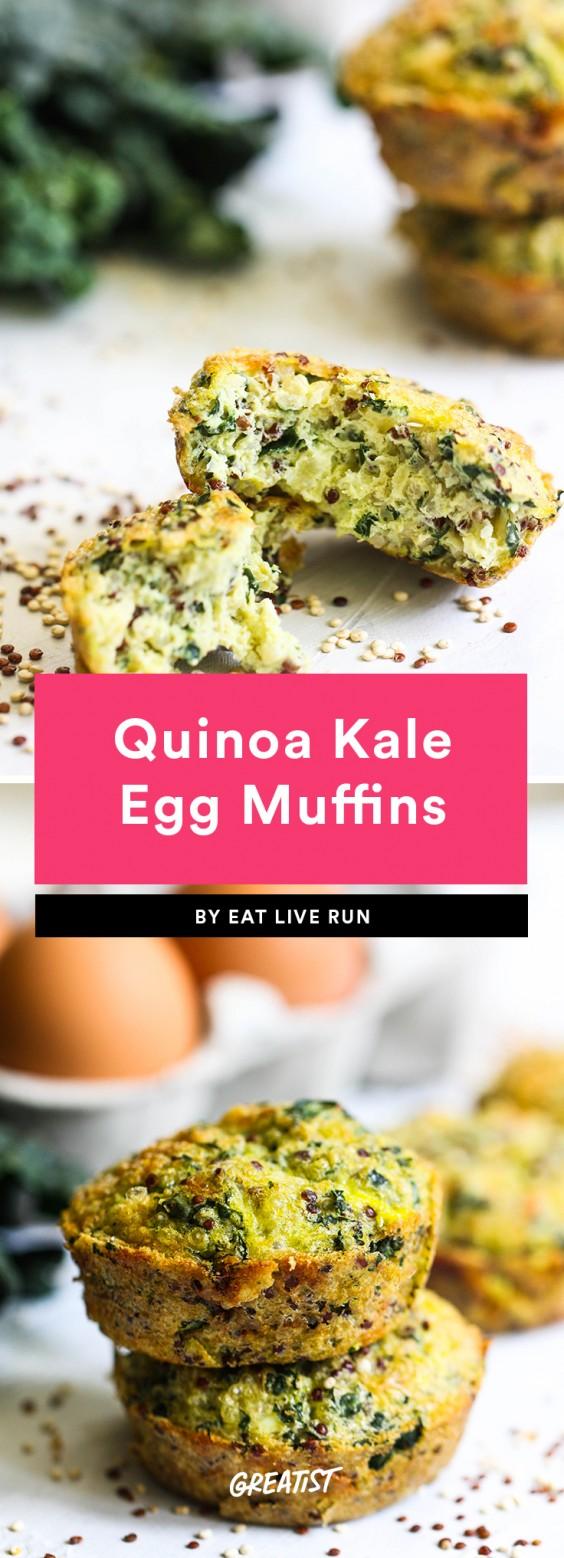 Quinoa Kale Egg Muffins