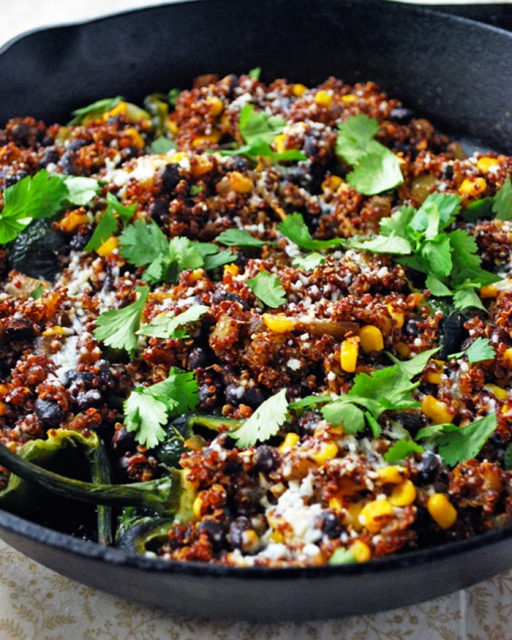 Quinoa Stuffed Poblano Peppers