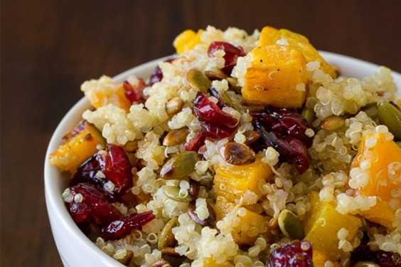 Eat Your Way to Clear, Healthy Skin: Quinoa with Roasted Squash, Dried Cranberries, and Pepitas