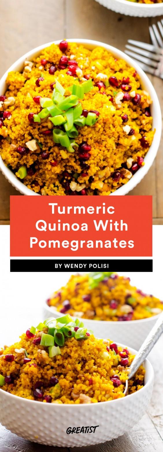 Turmeric Quinoa With Pomegranates