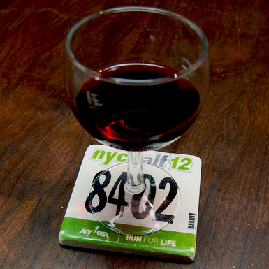 Race Bib Coaster