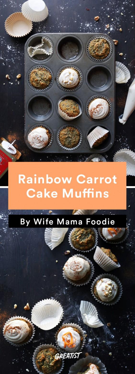 no dairy dessert: Carrot Cake Muffins