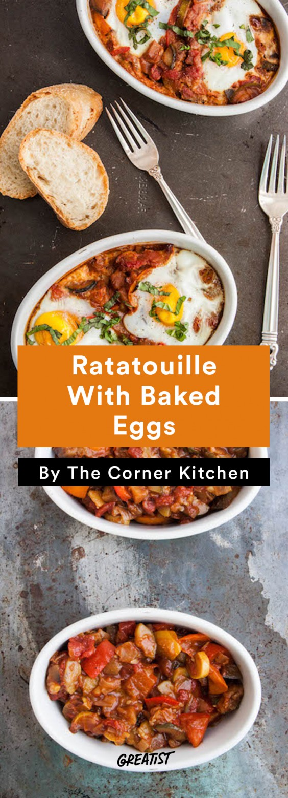 Ratatouille and Baked Eggs Recipe