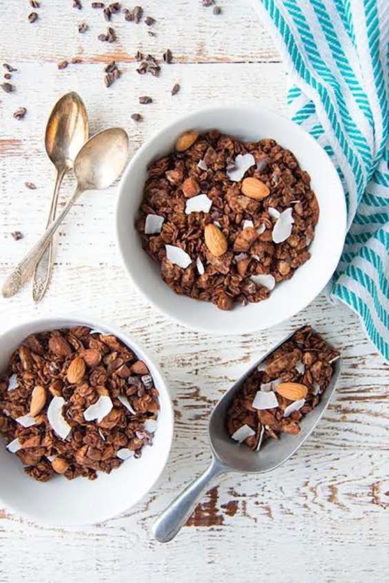 Homemade Granola Recipes: Double Chocolate Almond Joy Granola
