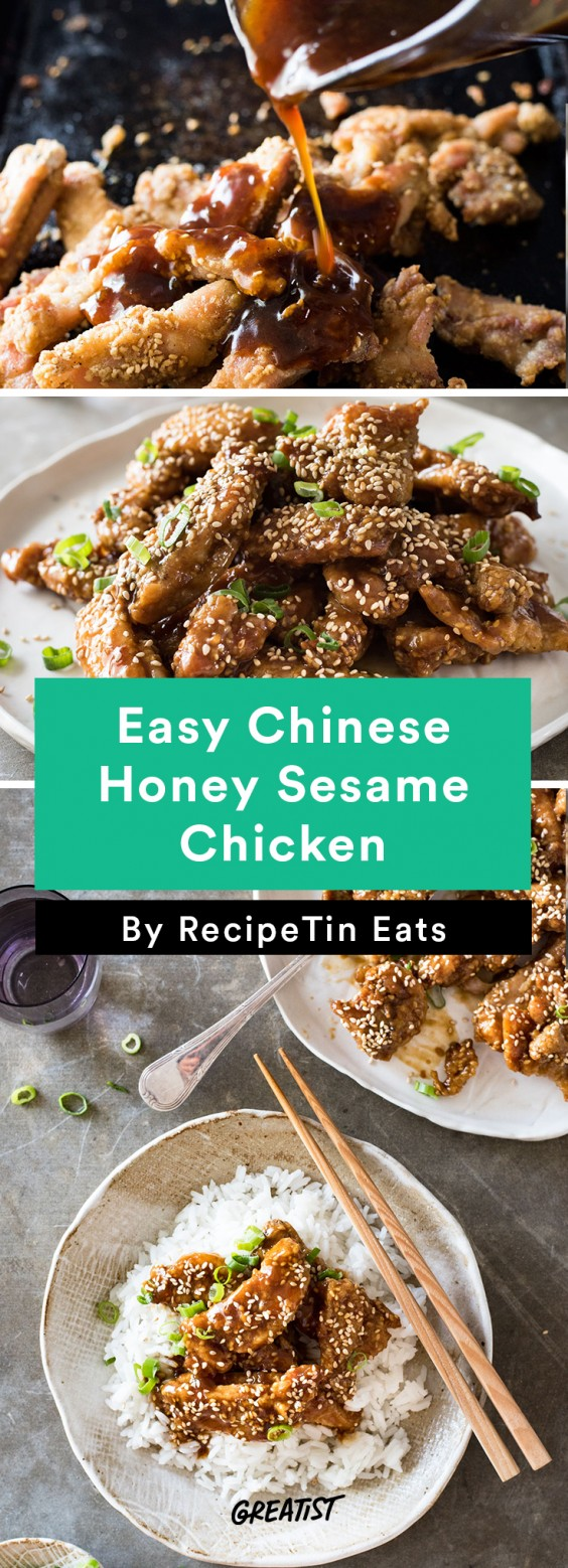 Easy Chinese Honey Sesame Chicken