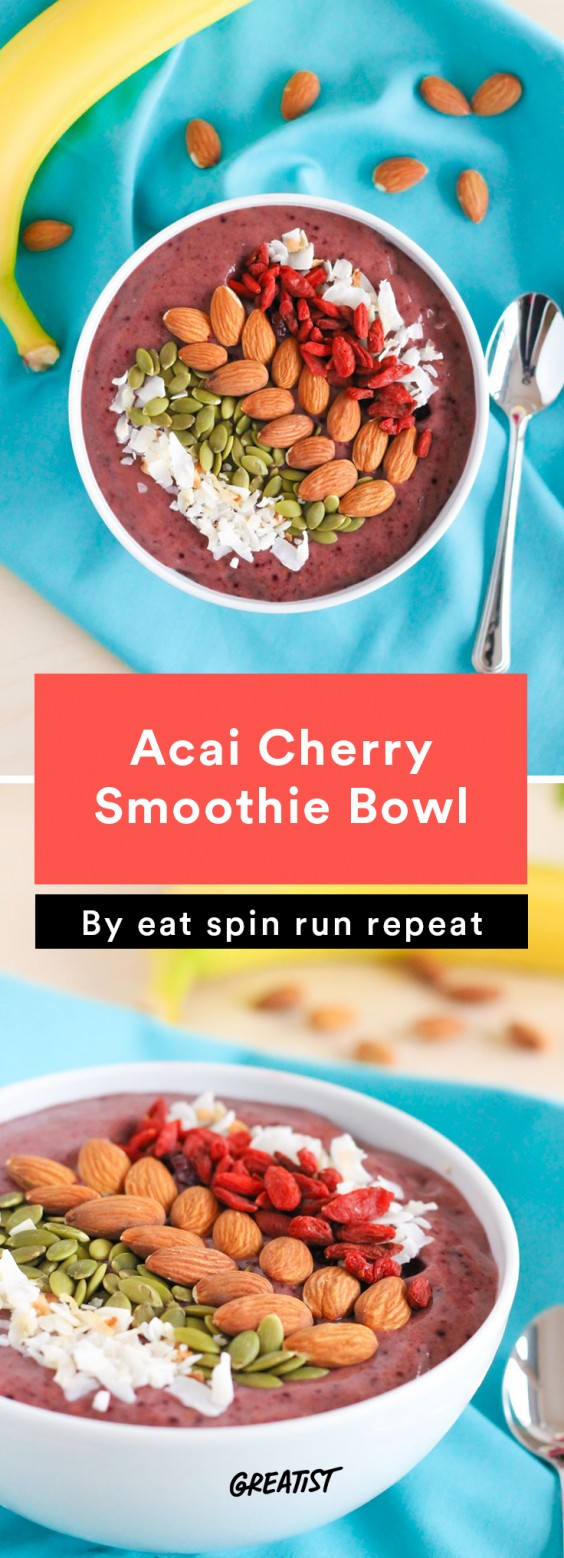 Acai Cherry Smoothie Bowl
