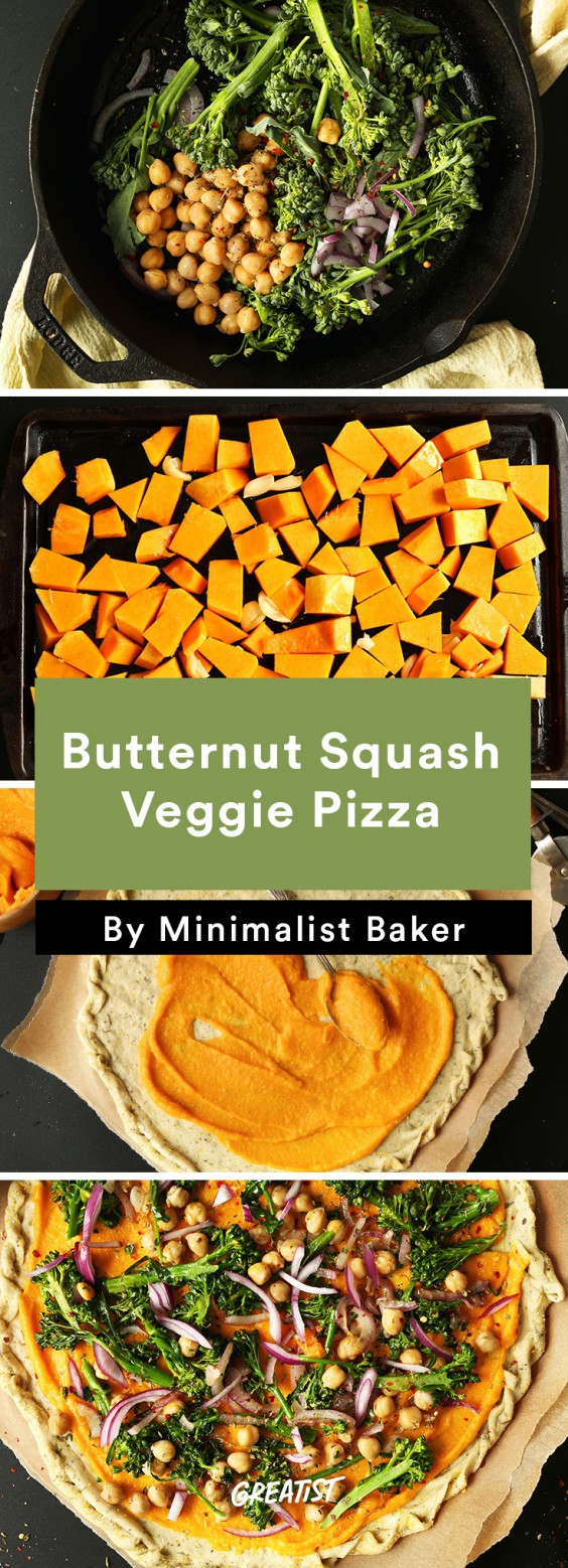 Healthier pizza recipes that put delivery to shame greatist 1 butternut squash veggie pizza forumfinder Image collections