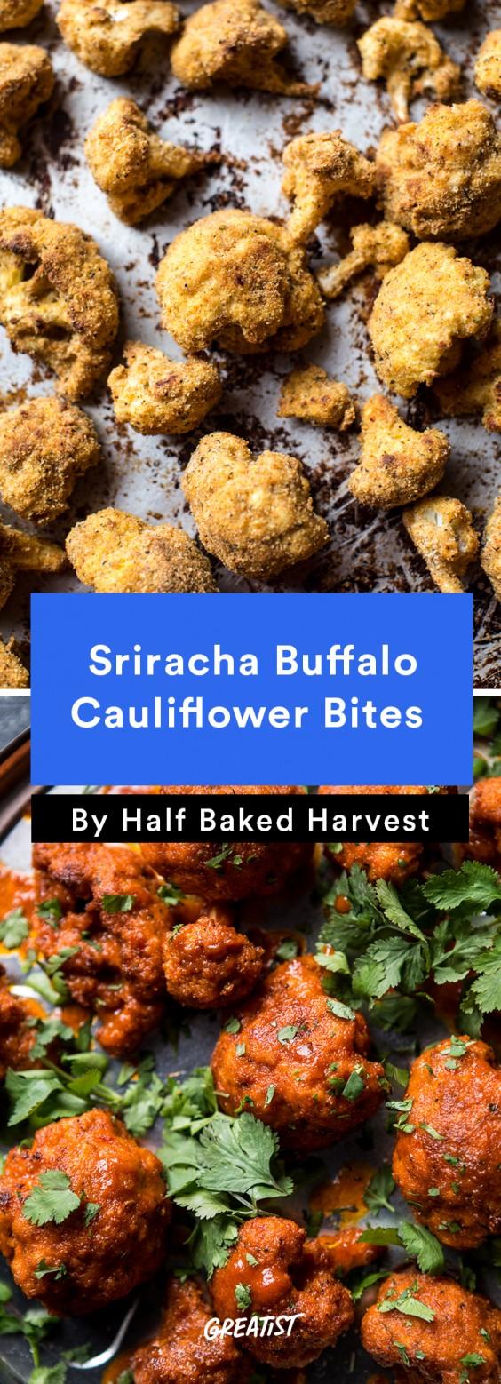 Sriracha Buffalo Cauliflower Bites