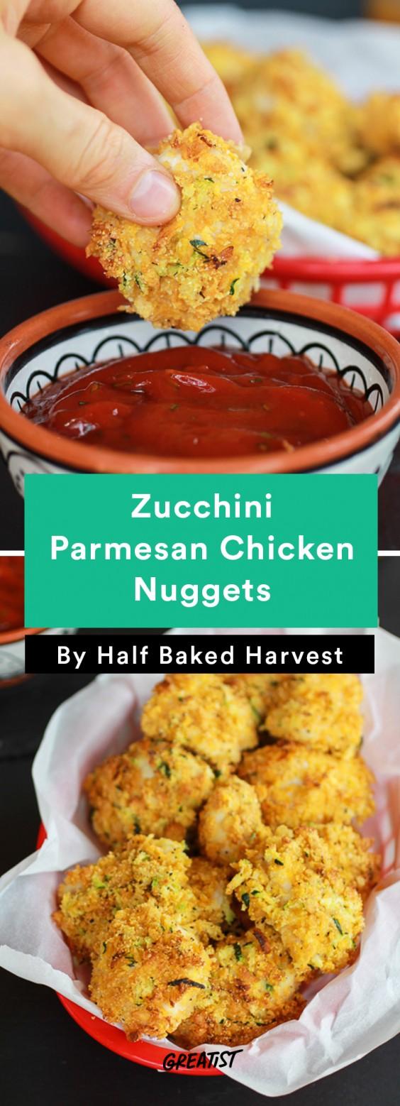 Zucchini Parmesan Chicken Nuggets