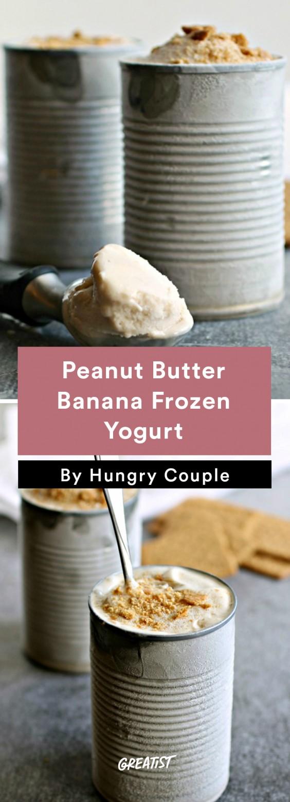 Peanut Butter Banana Frozen Yogurt