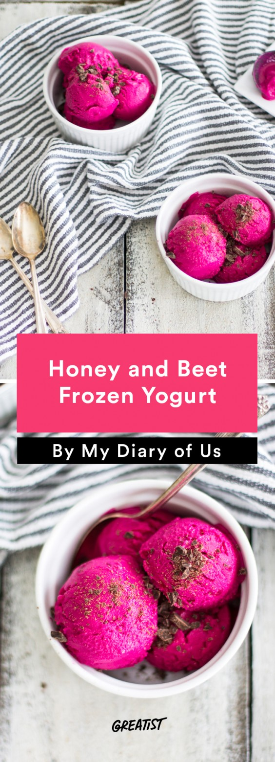 Honey and Beet Frozen Yogurt