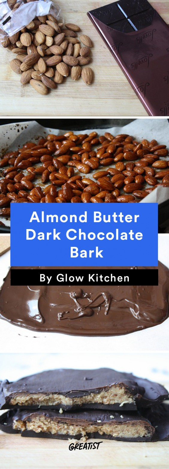 Almond Butter Dark Chocolate Bark