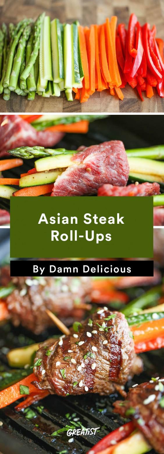 Asian Steak Roll-Ups