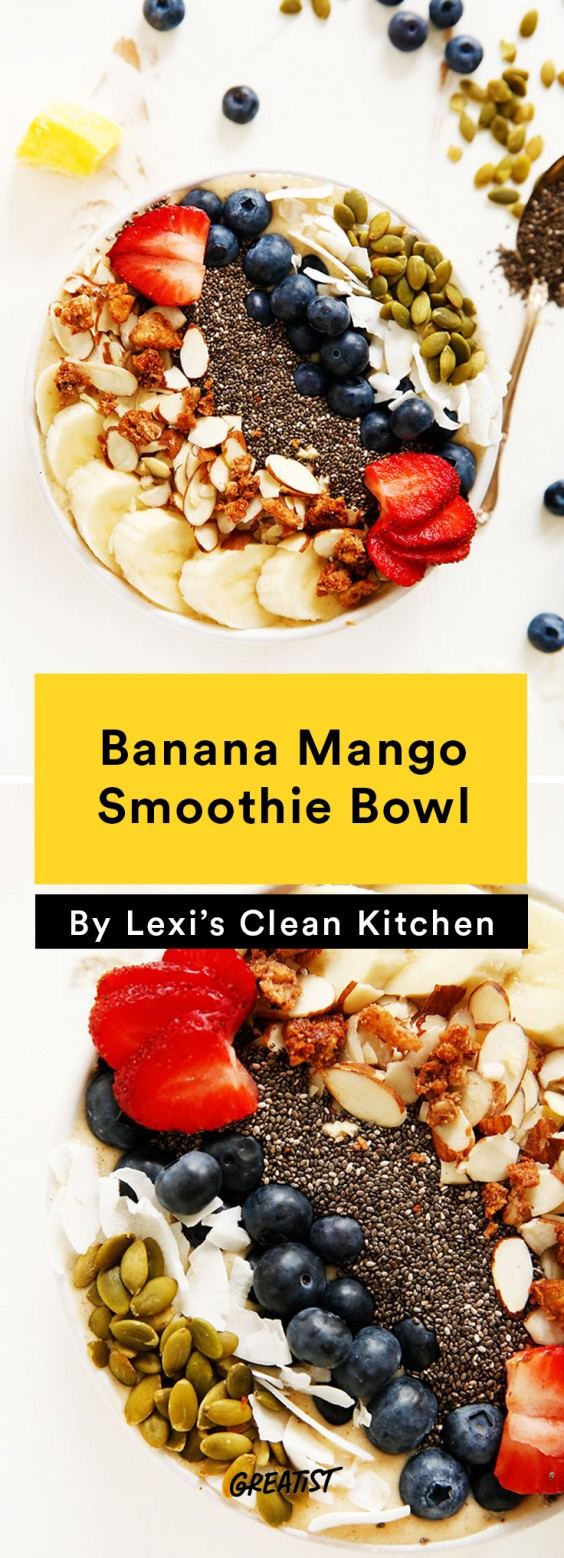 Banana Mango Smoothie Bowl